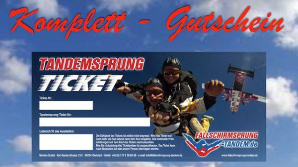 Tandemsprung Gutschein