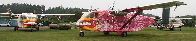 Tandemsprung Flugzeug Skyvan