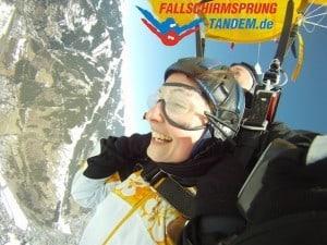 Fallschirmsprung Drehgeschwindigkeit