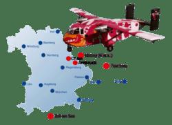 Bayern Fallschirmsprung Flugplätze Tandemsprung