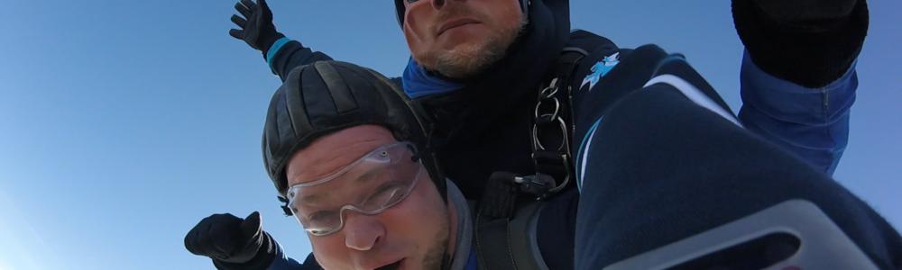 Tandemsprung Nürnberg Kunde Fallschirmspringen