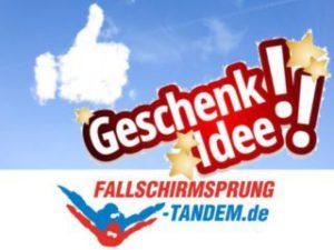Geschenk Gutschein Tandemsprung