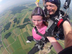 Wo kann man Fallschirmspringen